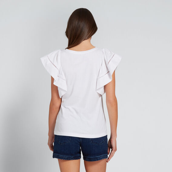 Ladder Trim Sleeve Tee  WHISPER WHITE  hi-res