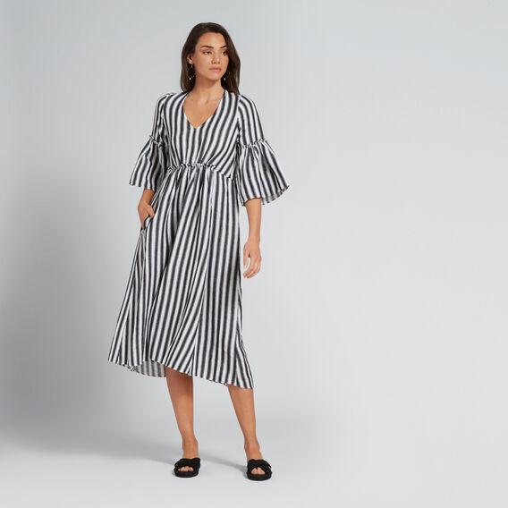 Bow Back Dress  BLACK/WHITE STRIPE  hi-res