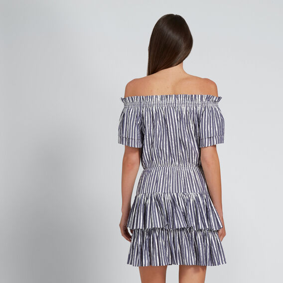 Striped Metallic Dress  METALLIC STRIPE  hi-res