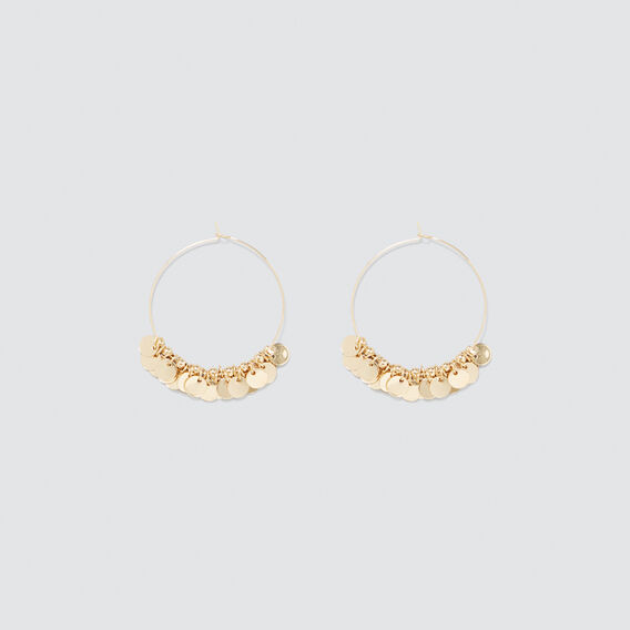 Disc Hoop Earrings  GOLD  hi-res