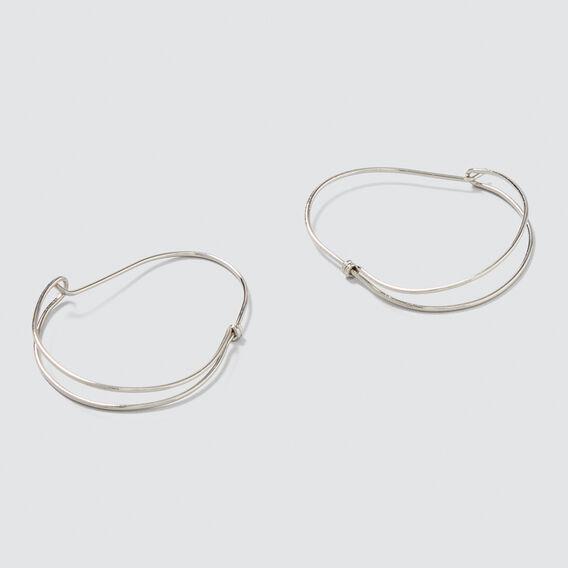 Dome Hoop Earrings  SILVER  hi-res