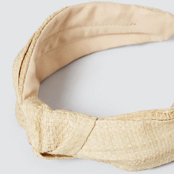 Straw Knot Headband  NATURAL  hi-res