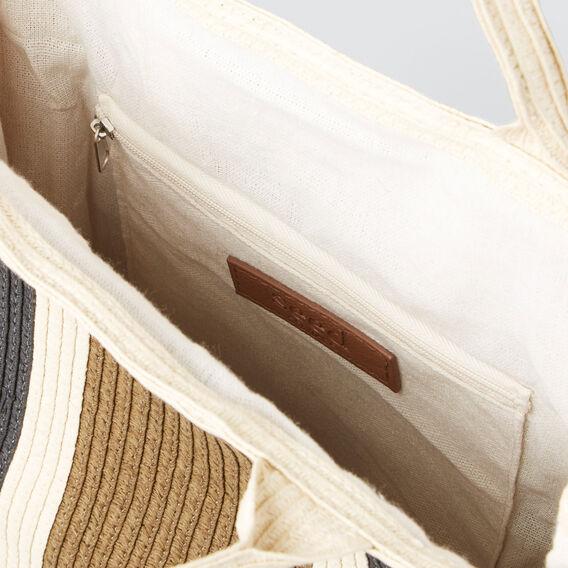 Striped Shopper Bag  NATURAL  hi-res