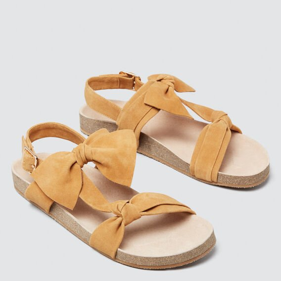 Beth Double Bow Sandal  TAN  hi-res