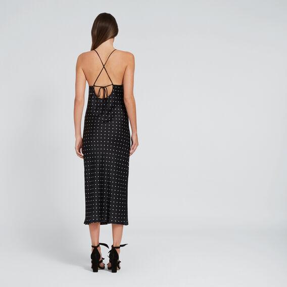 Cross-Back Satin Dress  SPOT  hi-res