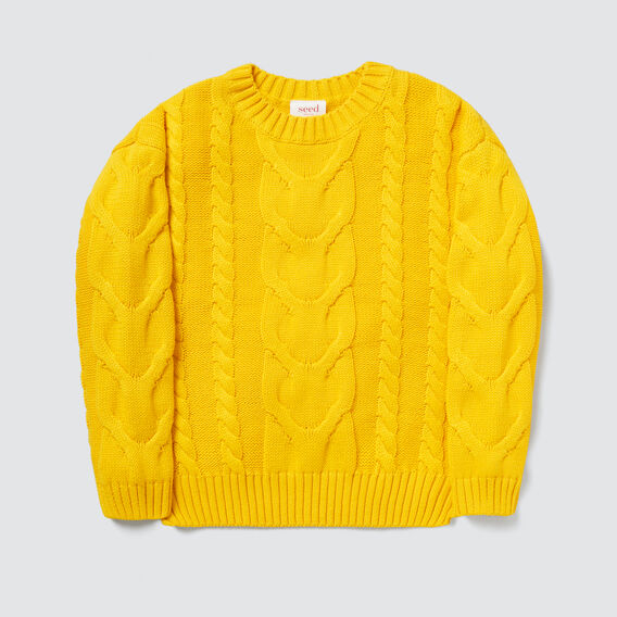 Cable Sweater  SAFFRON  hi-res