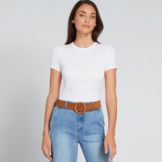 Circle Buckle Belt  TAN  hi-res