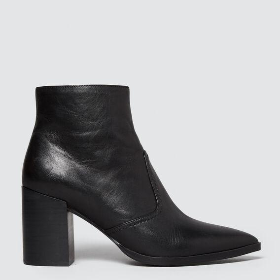 Georgia Block Heel Boot  BLACK  hi-res