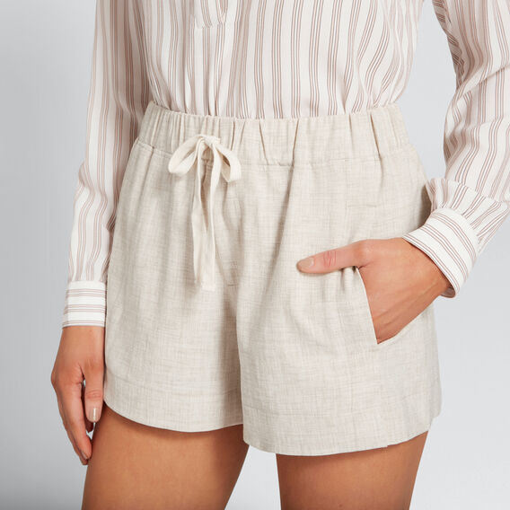 Drawstring Short  TEXTURED NATURAL  hi-res