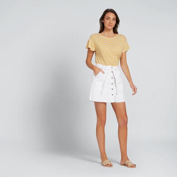 Patch Pocket Denim Skirt  WHITE  hi-res