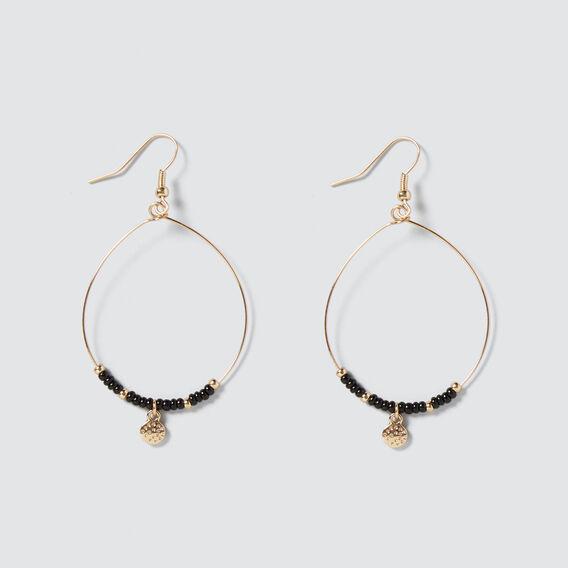 Disc Drop Earrings  GOLD/BLACK  hi-res