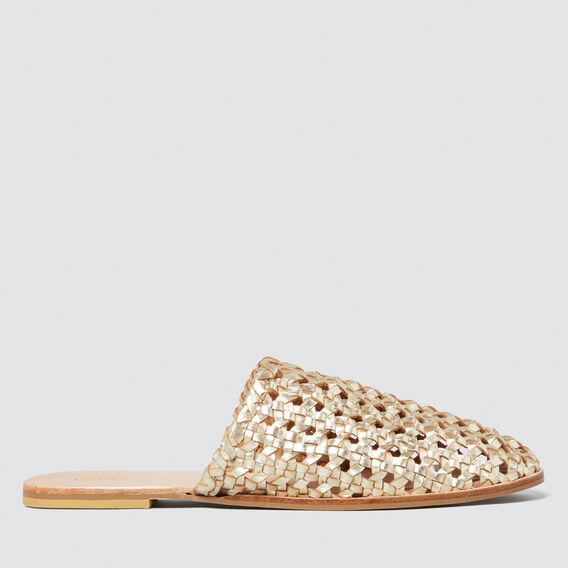 Martha Woven Slide  GOLD  hi-res