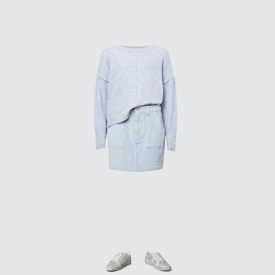 Cord Skirt  BABY BLUE  hi-res