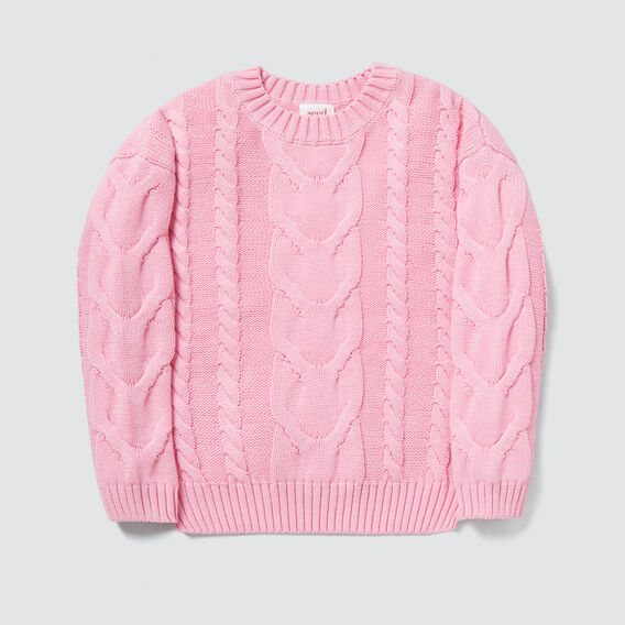 Cable Sweater  BUBBLEGUM  hi-res