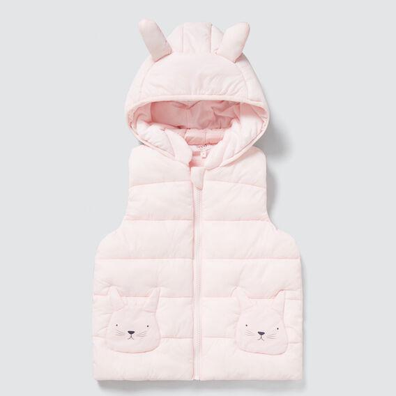 Bunny Hood Puffa Vest  ICE PINK  hi-res