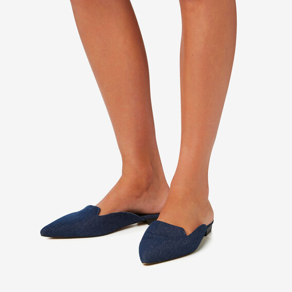 Greta Pointed Flat  DENIM  hi-res