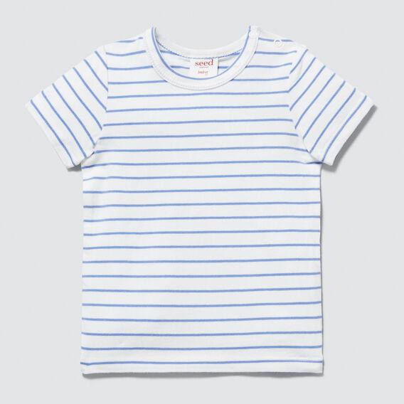 Stripe Tee  BRIGHT BLUEBELL  hi-res