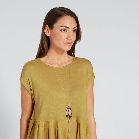 Chain Tassel Necklace  GOLD/TORT  hi-res