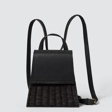 Wicker Backpack  BLACK  hi-res