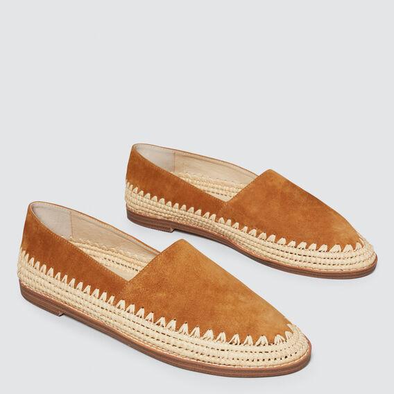 Elle Leather Flat  TOFFEE  hi-res