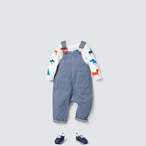Classic Stripe Overalls  WASHED BLUE  hi-res