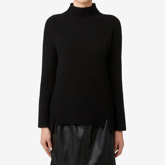 Neat Rib Sweater  BLACK  hi-res