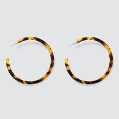 Tort Hoop Earrings  TORT  hi-res