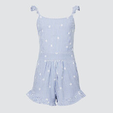 Seersucker Playsuit  SKY BLUE  hi-res