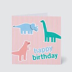 Large Dino Happy Birthday Card  MULTI  hi-res