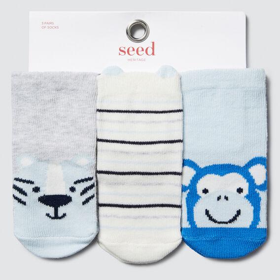 Jungle Animal Socks  BLUE  hi-res