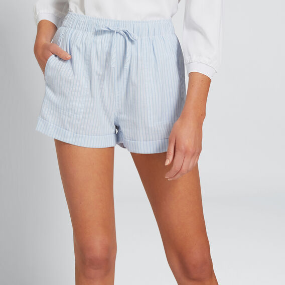 Stripe Drawcord Short  CHAMBRAY STRIPE  hi-res