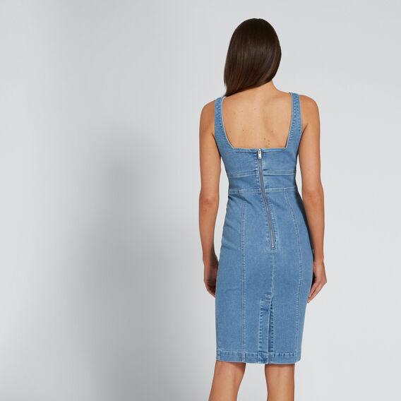 Peek-A-Boo Denim Dress  CLASSIC DENIM  hi-res