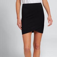 Cross-Over Jersey Skirt  BLACK  hi-res