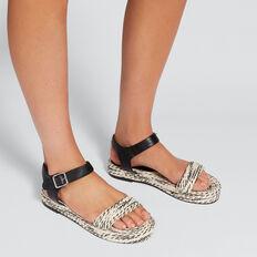 Peggy Contrast Sandal  BLACK/WHITE  hi-res