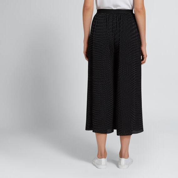 Pleated Spot Pant  BLACK/WHITE SPOT  hi-res