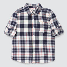 Flannel Check Shirt  MIDNIGHT BLUE  hi-res