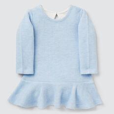 Double Knit Dress  SOFT BLUE MARLE  hi-res