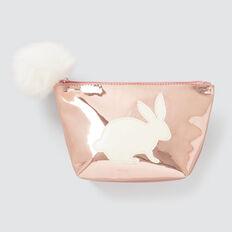Metallic Bunny Zip Case  ROSE GOLD  hi-res