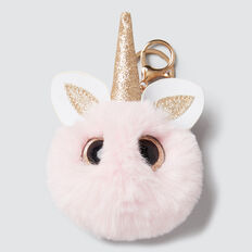 Unicorn Bag Charm  PINK  hi-res
