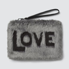 Faux Fur Clutch  GREY  hi-res