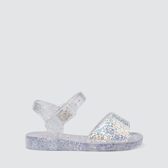 Glitter Jelly Sandal  SILVER  hi-res