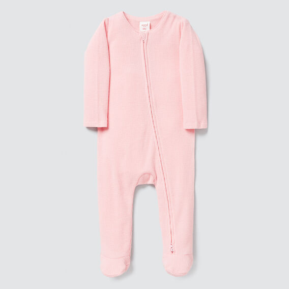 Waffle Zipsuit - (Available in 00000)  BUBBLEGUM  hi-res