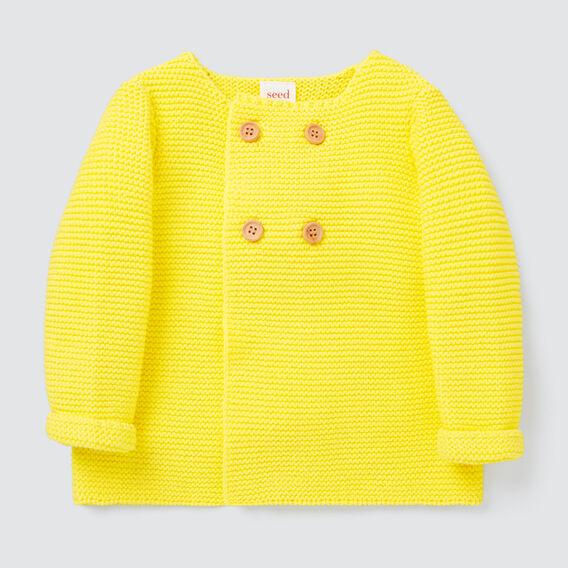 Pearl Knit Cardigan  LEMON YELLOW  hi-res
