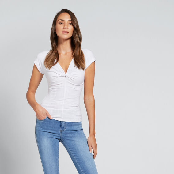 Twist Rib Top  WHISPER WHITE  hi-res