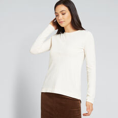 Front Seam Long Sleeve Top  FRENCH VANILLA  hi-res