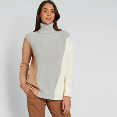 Colour Block Roll Neck  MULTI  hi-res