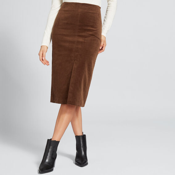 Corduroy Skirt  BURNT TOFFEE  hi-res