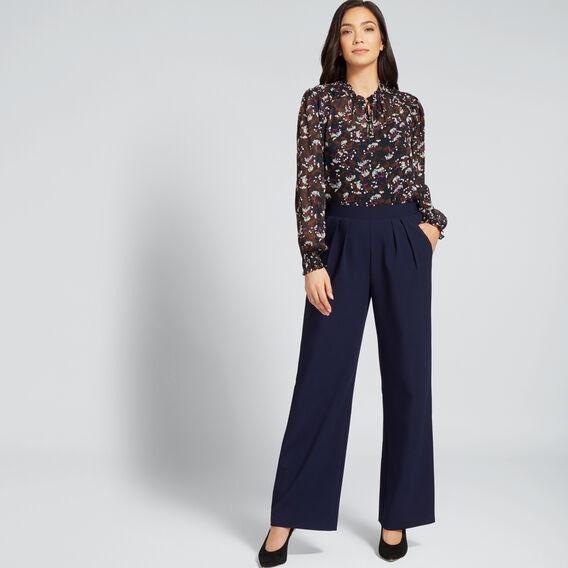High Waist Pleat Pant  NAUTICAL BLUE  hi-res