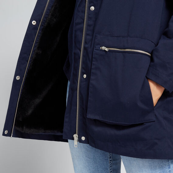 Faux Fur Lined Anorak  NAUTICAL BLUE  hi-res