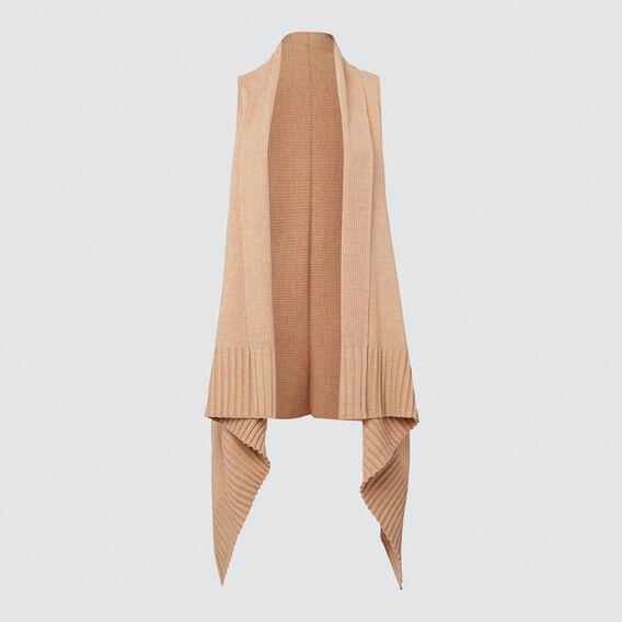 Sleeveless Knit Poncho  GOLDEN TAN  hi-res